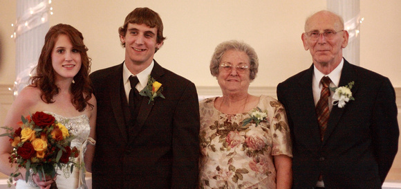 Brittany and Zac with Grandma and Grandpa Crills